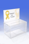 Acrylic Ballot Box Deluxe - WITH 1/2 Page Sign Holder